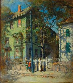 Paul Cornoyer       LIKE THIS PICTURE…….ARE THOSE PEOPLE TALKING AND WALKING  BY THE OPEN  GATE??………………ccp