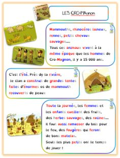 Les Cro-Magnons-texte-tapuscrit-version dys