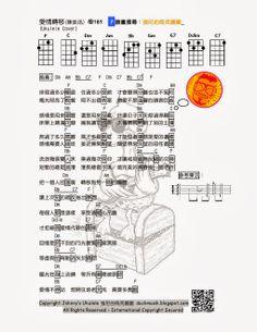 強尼的烏克麗麗 Johnny's Ukulele的琴譜,教學教室: #181 愛情轉移 陳奕迅 強尼的烏克麗麗譜 Johnny's Ukulele Tabs
