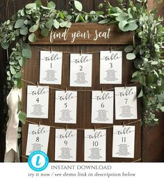 Ideas Table Seating Chart Printable For 2019 Seating Chart Wedding Template, Table Seating Chart, Wedding Table Seating, Wedding Tables, Table Template, Wedding Seating Charts, Wedding Table Assignments, Wedding Table Numbers, Wedding Table Planner