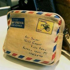 Air Mail Zipper Pouch