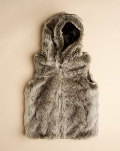 Some of you have to get in on this: Surell Girls' Chinchilla Faux Fur Vest (S-L)