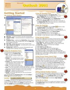 Microsoft Outlook 2010 Quick Reference Guide