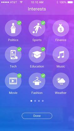 Reporters Social Network App UI by Rikon Rahman