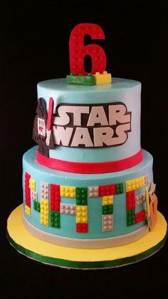 Nate's Star Wars Lego cake