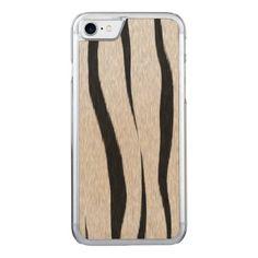 Tiger Stripes Fur Carved iPhone 7 Case
