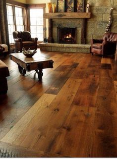 Fireplace and Floors