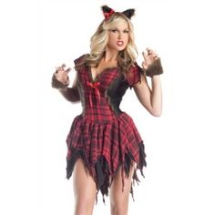 Sexy Werewolf Dress Adult Monster Halloween Costume - product - Product Review