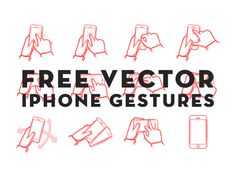 Free vector iphone gestures thanks to Julian Burford on dribbble Web Ui Design, Graphic Design, Mobile App Design, User Interface Design, Interactive Design, Web Design Inspiration, Service Design, Vector Free, Iphone App