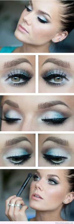 Linda Hallberg silver and black eye makeup look