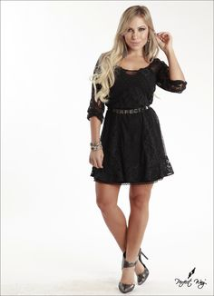VESTIDO EM RENDA PRETO PERFECT WAY - Vida Fashion Boutique