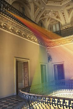 Thread installation by mexican artist Gabriel Dawe