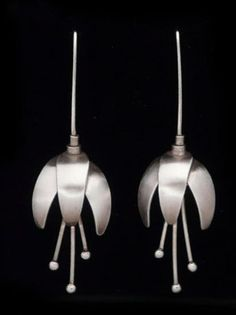 Kenneth Pillsworth Jewelry - Petals Earrings - Shown here are Kenneth's Petals…