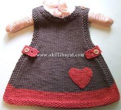 Kalpli bebek elbisesi modeli yapılışı (anlatımlı)