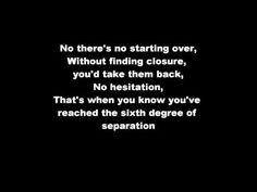 the script | 6 degrees of separation #lyrics
