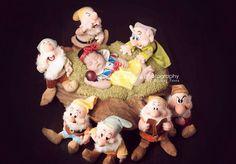 Ideia de fofo para as princesinhas! Branca de neve e os sete anões ❤