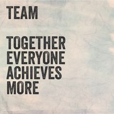 That's what TeaM is all about!