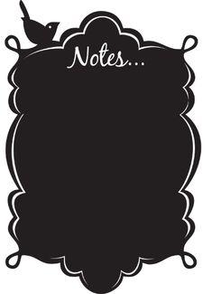 Vintage Notes vinyl chalkboard