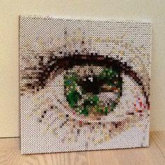 Eye pixel art photopearls by almadeleuran-----perler bead photo pixel art!