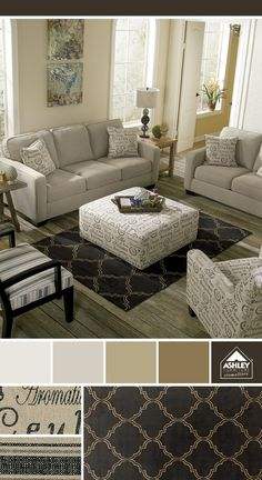 Mixing fabrics and patterns! Alenya Sofa - Ashley Furniture HomeStore