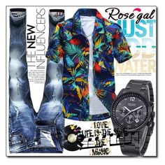 """""""Rosegal men's shirt contest"""" by danijela-3 ❤ liked on Polyvore featuring men's fashion and menswear"""