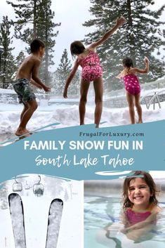 Family Snow Fun In South Lake Tahoe - Days 3 and 4 - Frugal For Luxury Tahoe Snow, Lake Tahoe Winter, South Lake Tahoe, Winter Family Vacations, Family Travel, Snow Fun, Winter Travel, Travel Usa, Canada Travel