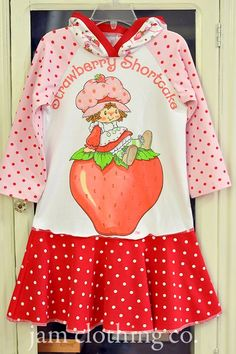 adorable strawberry shortcake dress