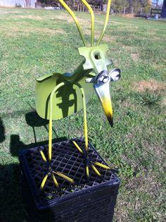 Shovel bird welded from shovel and rebar. #shovel bird
