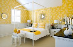 by Colin McAllister and Justin Ryan, I love that yellow. Happy Room, Mansion Interior, Bungalow Homes, What's Your Style, Dream Bedroom, Colorful Interiors, My Dream Home, Modern Design, Design Design