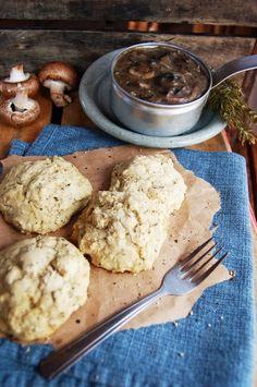 Gluten Free Biscuits and Mushroom Gravy