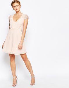 1403f246ae Elise Ryan Lace Mini Skater Dress at asos.com. Mini RobesMini Skater DressLatest  Fashion ClothesFashion OnlineAsos Online ShoppingPink ...