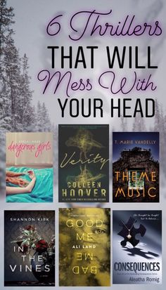 6 Thrillers That Will Mess With Your Head Best Books To Read, I Love Books, My Books, This Book, Nook Books, Teen Books, Story Books, Book Suggestions, Book Recommendations