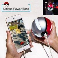 Geek | 10000mAh Pokeball Power Bank Charger Custom Christmas Gift Game Pokemons Go Plus Powerbank Mobile Poke ball Plush Toy Power Bank
