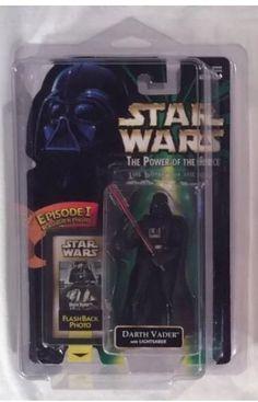 "Darth Vader w Lightsaber Star Wars POTF 3 75"" EP1 Flashback Photo | eBay"