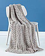 Image of Celtic Afghan via Lionbrand yarn. Free crochet pattern PDF.