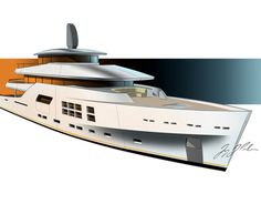 """""""Flying Fish"""" is an alternate concept designed for the McMullen&Wing… Yacht Design, Boat Design, Boat Sketch, Yatch Boat, Rafting, The Good Place, Big Star, Yachts, Starfish"""