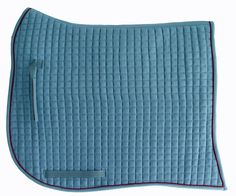 Swan-Tail / Swallow-Tail Dressage Saddle Pad. Coast Blue with Burgundy Piping/Trim. PRI Equine #Dressage #HorseTack #Equestrian #Dressagetack