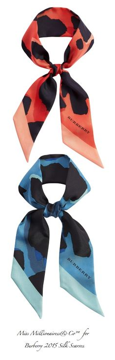 Burberry 2015 Printed Silk Scarves