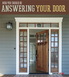 Home Defense - How You Should Be Answering Your Door