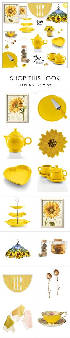 """Sunshine in My Tea #BrightRugs"" by theseapearl ❤ liked on Polyvore featuring interior, interiors, interior design, home, home decor, interior decorating, Fiesta, Pier 1 Imports, Meyda and abcDNA"