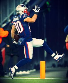 Danny into the end zone