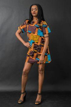Ethnic dress with wax print by n&a Fashion Wax