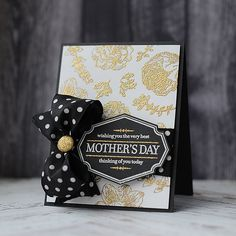 An elegant black & gold Mother's Day card!