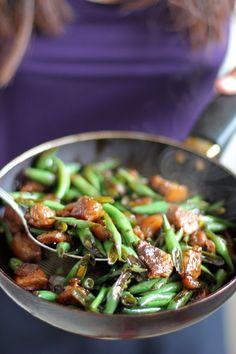 BAGUIO BEANS GUISADA (stir-fried french beans and pork) [angsarap]