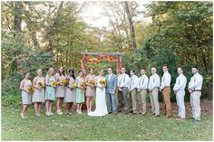 Tamara Jaros Photography 2015 Fall, Rustic Wedding Photography DIY Wedding Wedding Dress Fall Colors Fall wedding theme Outdoor Ceremony Sunflower Bouquet Bridesmaids Bouquets