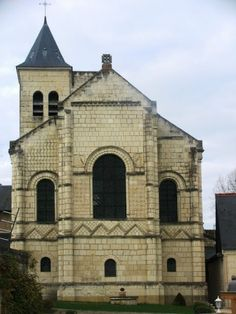 Rear view of the church of Notre-Dame de Riviere near Chinon in the #Loire Valley - well worth taking a little detour to visit  http://www.experienceloire.com/notre-dame-de-riviere.htm   #chinon #LoireValley