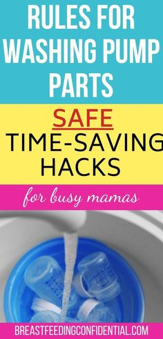 The latest rules from the CDC for washing your breast pump parts look overwhelming. These time-saving hacks will get your breast pump parts clean faster and still keep your baby safe. Breastfeeding Positions, Breastfeeding Problems, Breastfeeding Support, Breastfeeding And Pumping, How To Increase Breastmilk, Pumping At Work, Nursing Tips, Time Saving, Bebe