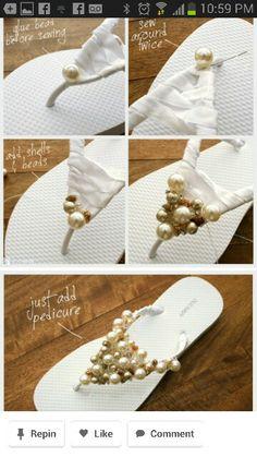 Diy bejeweled sandals
