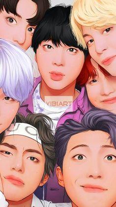 Pin oleh hana jung di bts fan art and di 2019 фан арт, Bts Taehyung, Bts Bangtan Boy, Bts Jimin, K Pop, Bts Anime, Fanart Bts, Bts Pictures, Photos, Fanarts Anime
