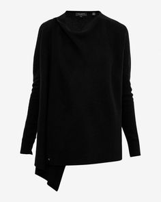 Wrap front cardigan - Black | Knitwear | Ted Baker UK